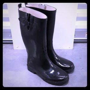 Rain Steps Womens Boots Black Size 8